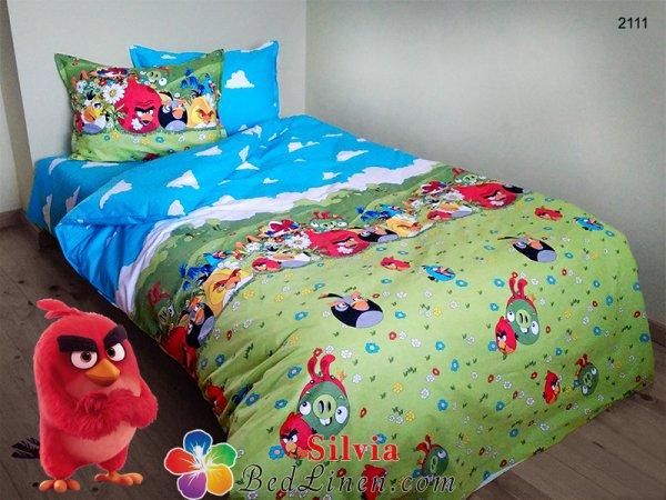 Детски спален комплект ранфорс Ядосаните пилета